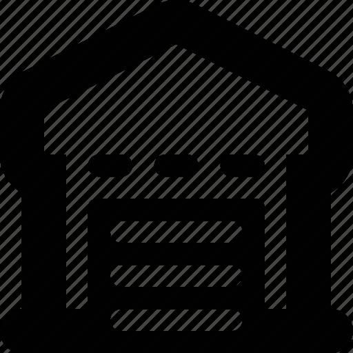 buiding, garage, hangar, storage, warehouse icon