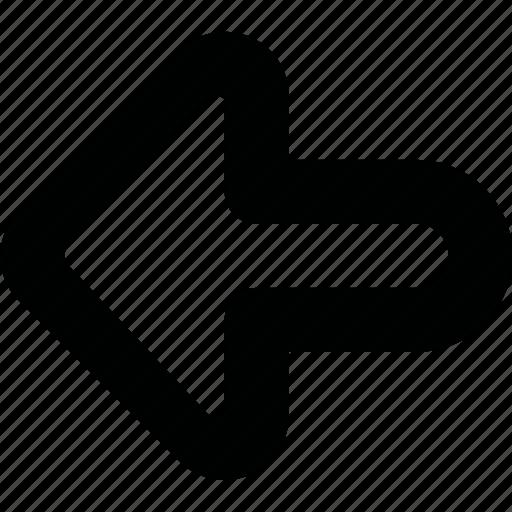 arrow, left icon