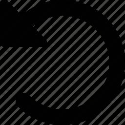 arrow, back, rewind icon