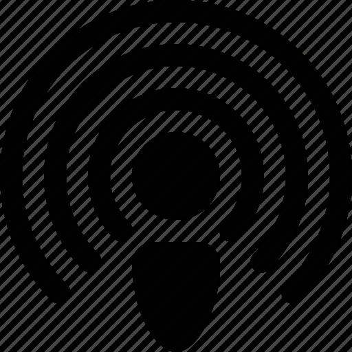 antenna, connection, internet, podcast, radio, waves icon