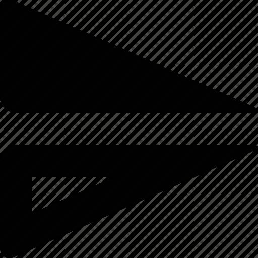 align, horizontal, mirror icon