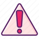 alert, error, issue, warning icon