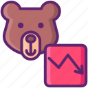 bear, bear market, investing, investment, market, stock, stock market icon