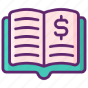 book, book value, investing, investment, value icon