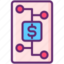 dollar, financial, investment, plan icon