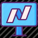 exchange, market, nasdaq, stock icon