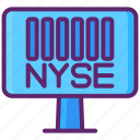 exchange, market, new york, nyse, stock, the big board icon