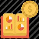 book, price, cost, value icon