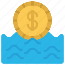 cash, flow, money, water