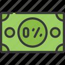 zero, percent, interest, rate