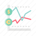 business, chart, graph, investing, investor, marketing, money icon