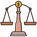 balance, business, decision, investments, law icon