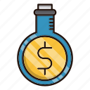 business, investments, lab, money, research, tube icon