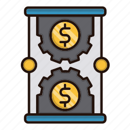 business, investments, management, money, time icon