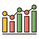 analysis, business, chart, data, investments icon