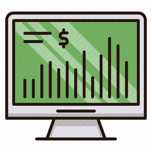 business, chart, investments, market, monitor, screen, stock icon