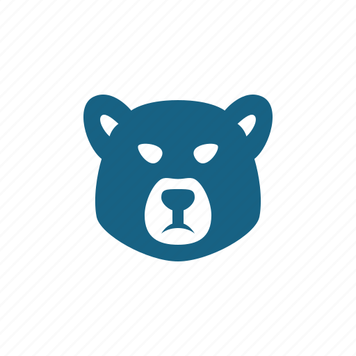Bear, bear market, head, investment, stock market icon - Download on Iconfinder