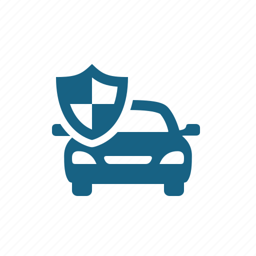 Car, insurance, shield icon