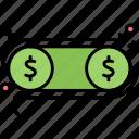 dollar, exchange, money, profit icon