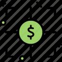 goal, money, success, target icon