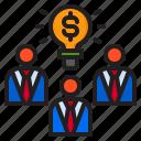 blub, business, idea, light, man, money icon