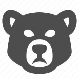 bear, bear market, business, finance, head, investment, stock market icon