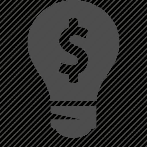 bulb, business, finance, idea, light bulb, money icon