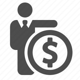 business, businessman, coin, finance, insurance, investment, money icon