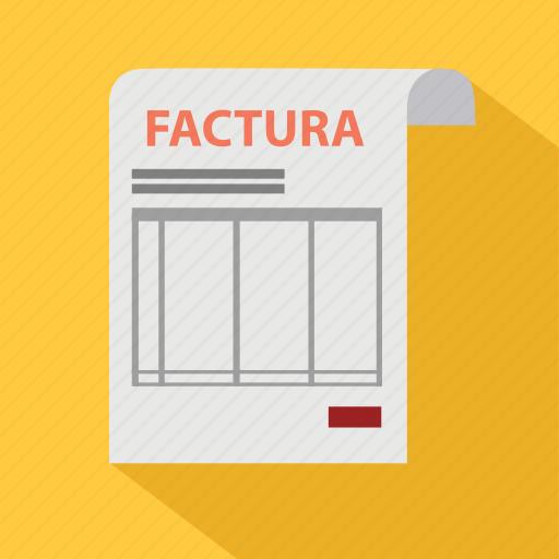 bill, factura, invoice, money, order, payment, signature icon