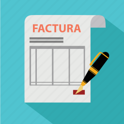 agreement, bill, document, factura, invoice, paper, pencil icon