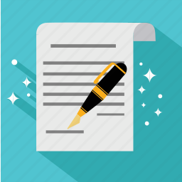 agreement, business, contract, document, finance, pen, signature icon