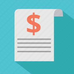 agreement, bill, budget, document, dolalr, invoice, order icon