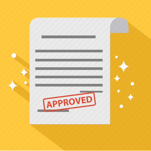 agreement, approve, approved, check, contract, document, guarantee icon