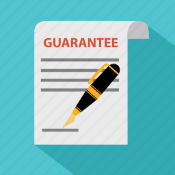 agreement, document, guarantee, guaranty, partnership, pen, signature icon