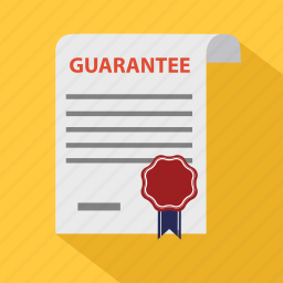 agreement, business, certificate, contract, document, guarantee, guaranty icon