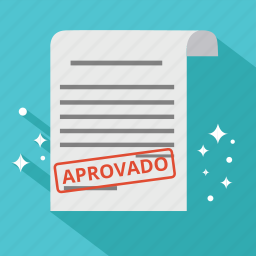approve, approved, aprovado, bill, document, invoice, order icon