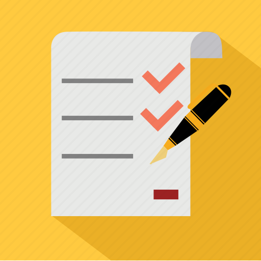 check, document, exam, guarantee, invoice, list, test icon