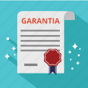 diplom, document, garantia, guaranted, guarantee, satisfaction, warranty icon