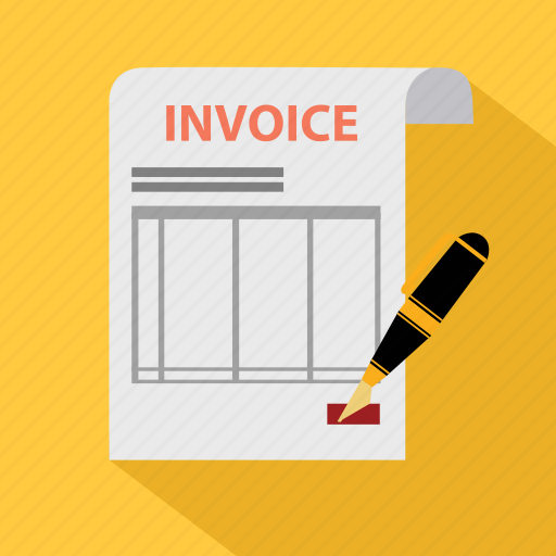bill, check, document, invoice, order, payment, pen icon