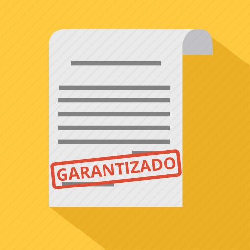 business, diplom, document, garantizado, guarantee, invoice, warranty icon
