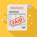 bill, dollar, finance, invoice, order, paid, payment icon