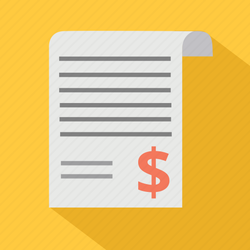 bill, business, dolalr, finance, invoicce, money, order, payment icon
