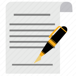 agreement, contract, document, guarantee, guaranty, pen, signature icon