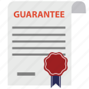document, emblem, guaranted, guarantee, guaranty, satisfaction, warranty icon