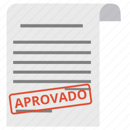 approve, approved, aprovado, contract, document, guarantee, paper icon