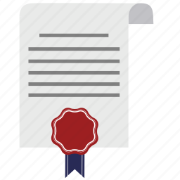 agreement, business, certificate, contract, diploma, document, guarantee icon