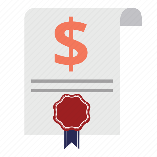 document, emblem, guarantee, guaranty, money, payment, warranty icon