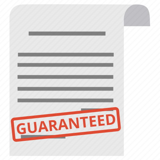 business, document, guaranted, guarantee, guaranteed, guaranty, warranty icon