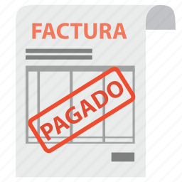 bill, factura, invoice, order, pagado, pay, payment icon