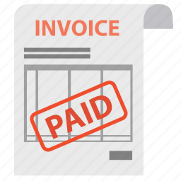 bill, check, document, invoice, order, paid, payment icon